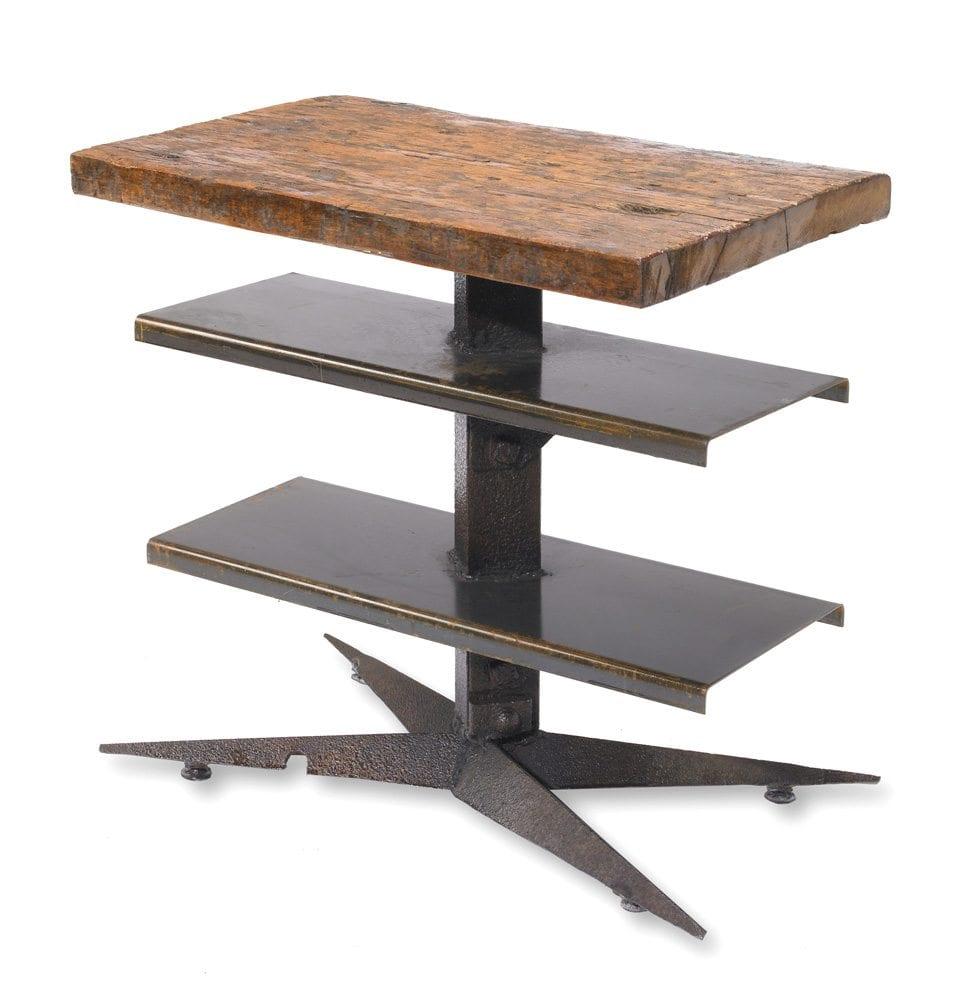angle iron metal and wood table   gatski metal