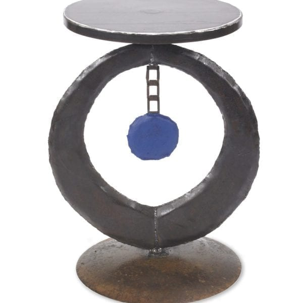 Circle Table Blue Center-etsy