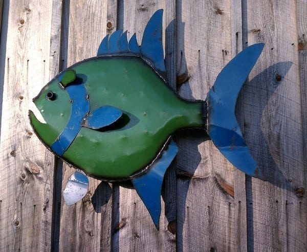 Large Outdoor Wall Art Fish Gatski Metal
