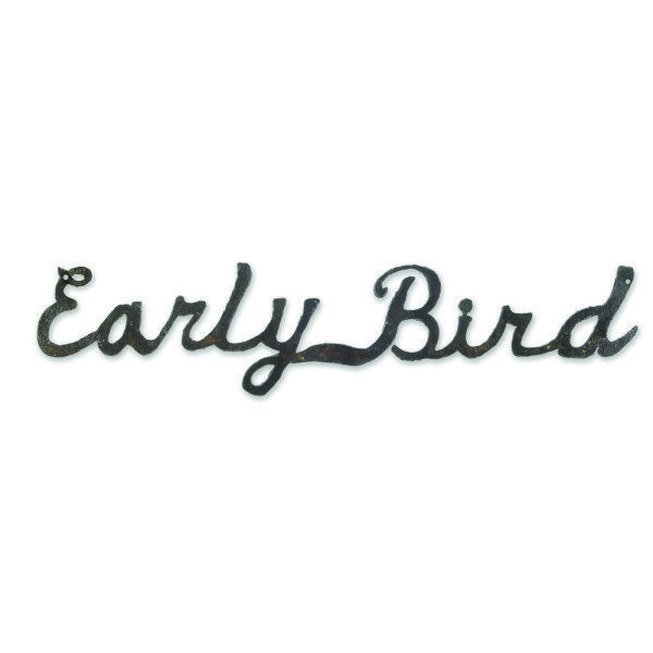 Early Bird Sign for Etsy