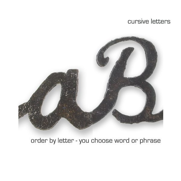custom cursive word sign