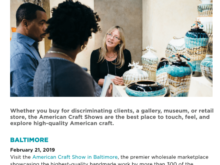 Wholesale Day at American Craft Council Show